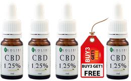 Ekolibi 1,25% Gold CBD Olie 10ml 3+1 gratis (500mg)
