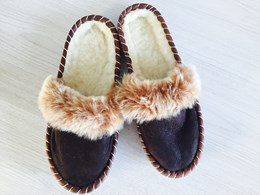 Dames BOHO slipper 40 BROWN