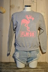 FLM GO Sweater- Sports grey- Baby Pink