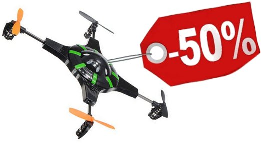50% drone korting