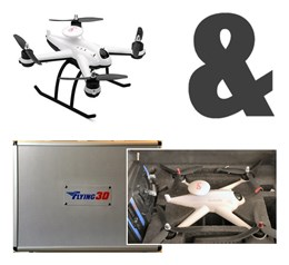 FY-X6 brushless GPS quadcopter incl. koffer