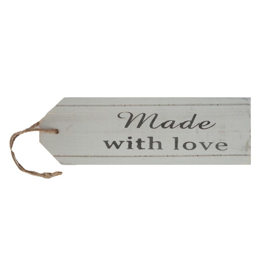 houten label made with love. Black Bedroom Furniture Sets. Home Design Ideas
