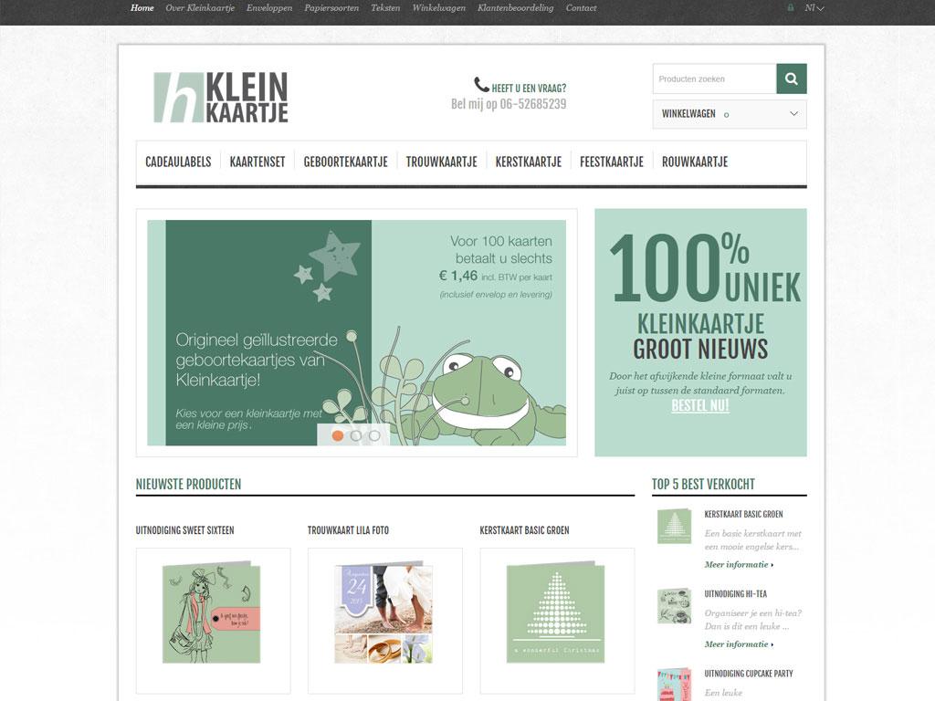 Webwinkel Kleinkaartje