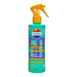 Le Tan SPF50+ Coconut Sunscreen Spray 250mL