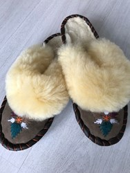 Dames BOHO-slipper 38 Aztek blue