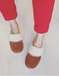 AA WOOLLIE slipper CHESTNUT