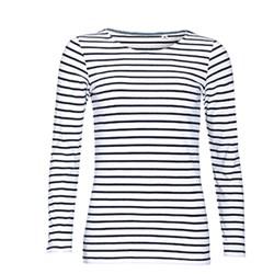 zwart wit gestreept dames shirt