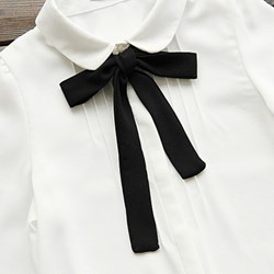 witte blouse met strik dames