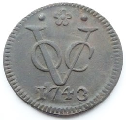 VOC Duit Holland 1743