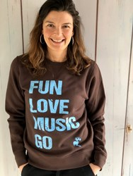 FLM GO Unisex sweater- chocolate