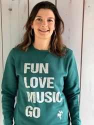 FLM GO Unisex sweater- ocean green