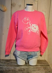 TUR TL Turtle Sweater - Neon Pink- White