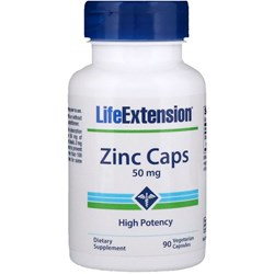 Zinc Caps High Potency, 50 mg, 90 vegetarian capsules