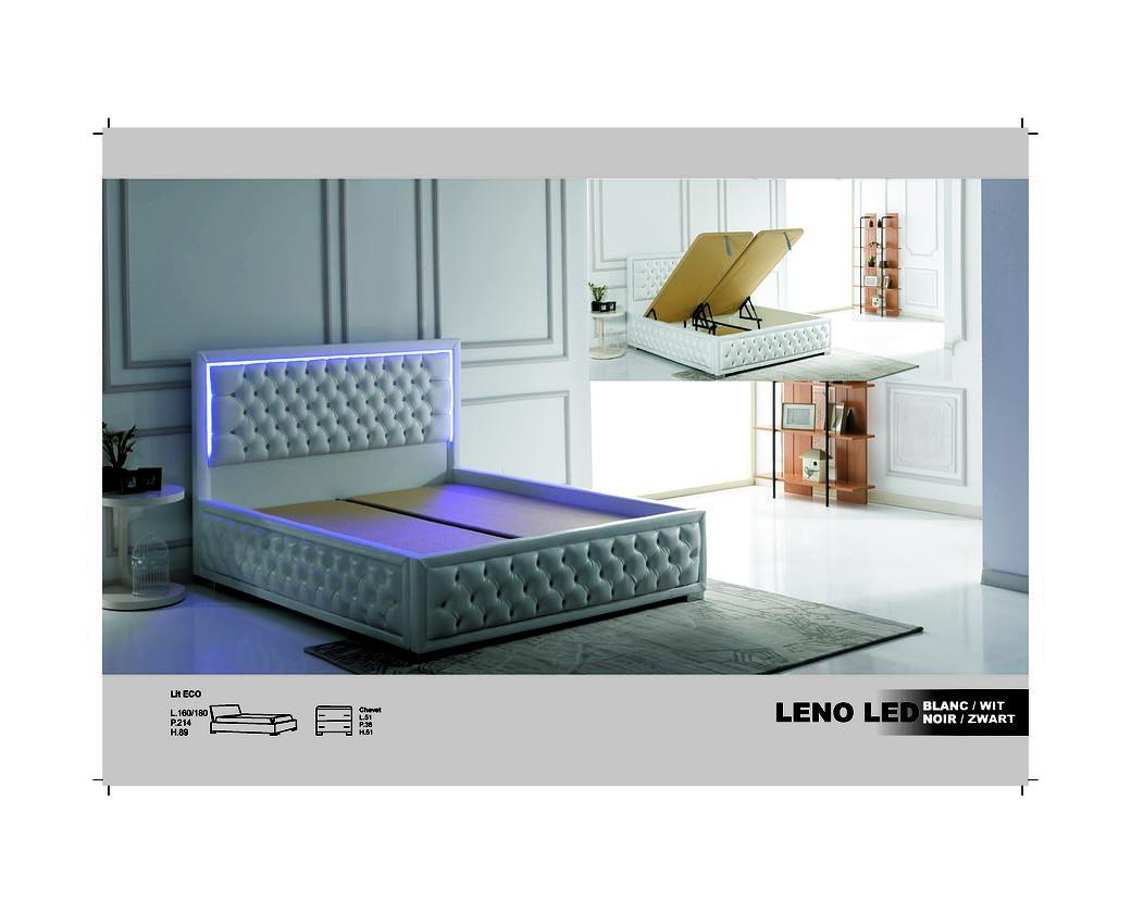 Boxspring Leno led