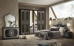 Slaapkamer Zwart Grijs : Slaapkamer alice zwart goud