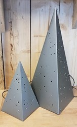 Zinken piramide lamp