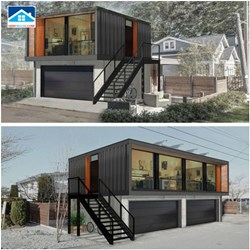 2 Story  Carport Luxury Container House