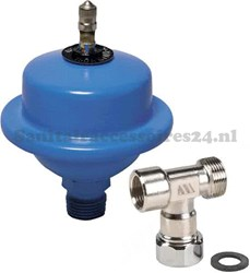 Watts waterslagdemper met adapter