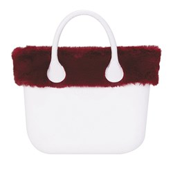 O bag bordo - LAPIN FAUX REX (Bordeaux)