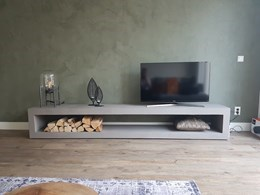 Beton Tv Meubel.Tv Meubel Zwevend 260cm