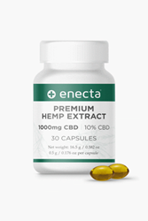Enecta CBD soft gel capsules 1000mg ( 10% )