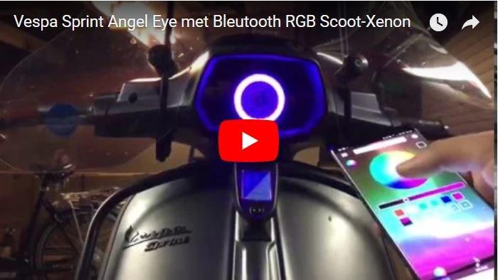 Onwijs HID Projector Angel Devil Eye RGB met Bluetooth Scooter QP-25
