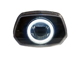 Led Angel Eye koplamp unit Vespa Sprint (wit 90mm)
