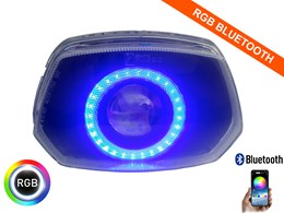 Led Angel Eye 90mm 3200 Lumen RGB Bluetooth koplamp unit Vespa Sprint
