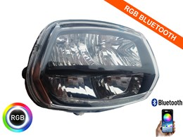 Led koplamp unit RGB Bluetooth Vespa Sprint Euro 4