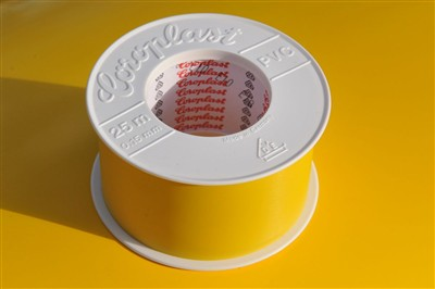 Coroplast geel 50 mm PVC tape