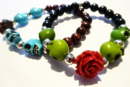 DIY-Pakket: Armband skulls and roses