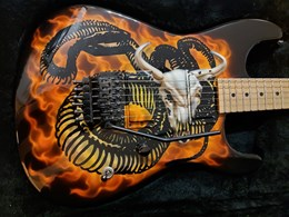 Charvel San Dimas Custom Shop Mike Learn Snake and Skull Graphic