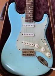 Nash S63 Sonic Blue Stratocaster Relic Aged Sweet Tone with Case