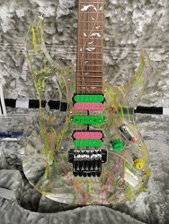 Ibanez JEM 20th Anniversary Steve Vai! NOS Unplayed 1 Owner 80's colors Swirl and LNG LED lights!