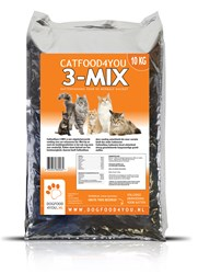 Catfood4you 3-Mix Kattenvoer (10 kg)