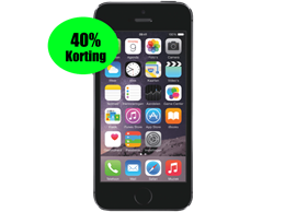 Aanbieding iPhone 5S 16GB Zwart refurbished