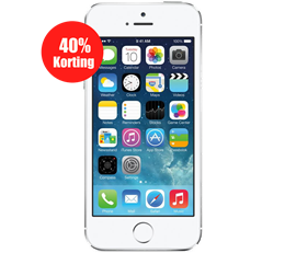 Aanbieding iPhone 5S 16GB Zilver refurbished