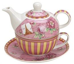 Tea for one roze/geel