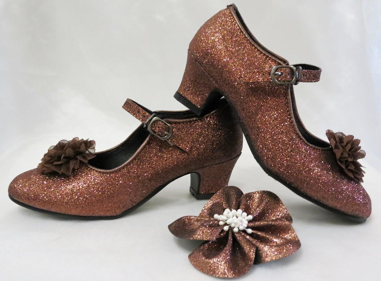 df06699706a De Mooiste Prinsessen Schoenen! Prinsessen schoentjes met Klik-Gesp en  BloemBroche.