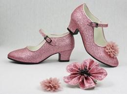 ce478073521 De Mooiste Spaanse Schoenen in Zwart Glitter! Spaanse Schoentjes met ...